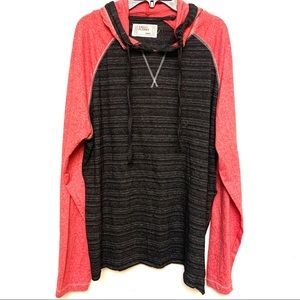 Free Planet thin hoodie shirt side zipper Sz Large
